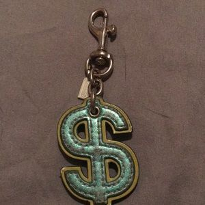 Coach Dollar sign keychain